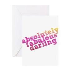 Absolutely Fabulous Darling Greeting Card