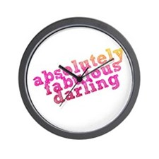 Absolutely Fabulous Darling Wall Clock