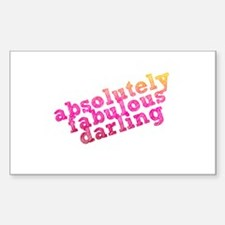 Absolutely Fabulous Darling Rectangle Decal