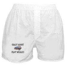 Crazy About Pilot Whales Boxer Shorts