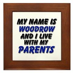 my name is woodrow and I live with my parents Fram