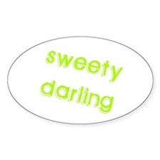 Sweety Darling Oval Decal