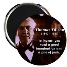 Imagination Thomas Edison Magnet