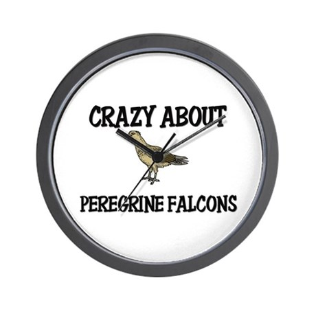 Crazy About Peregrine Falcons Wall Clock