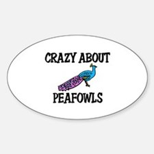 Crazy About Peafowls Oval Decal