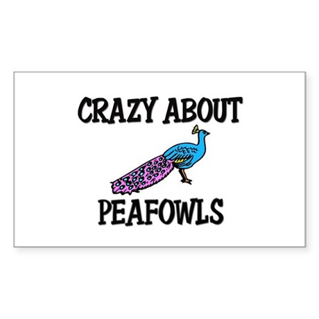 Crazy About Peafowls Rectangle Sticker