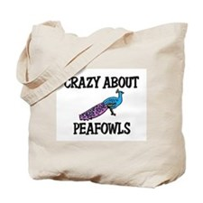 Crazy About Peafowls Tote Bag
