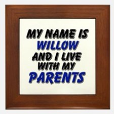 my name is willow and I live with my parents Frame