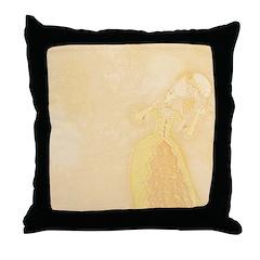Lady at Masquerade Throw Pillow
