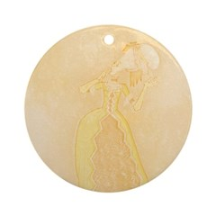 Lady at Masquerade Ornament (Round)