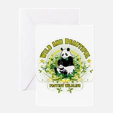 Wild Panda Greeting Card