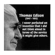 Inventor Thomas Edison Tile Coaster
