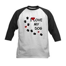 I Love my Dog Paw Prints Tee