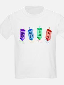 Four Dreidels Kids T-Shirt