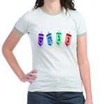 Four Dreidels Jr. Ringer T-Shirt