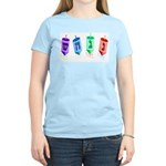 Four Dreidels Women's Pink T-Shirt