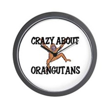 Crazy About Orangutans Wall Clock