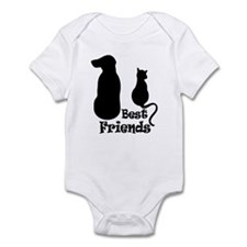 Cat and Dog Best Friends Infant Bodysuit