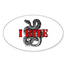 RATTLESNAKE Oval Decal