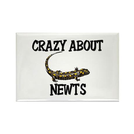 Crazy About Newts Rectangle Magnet