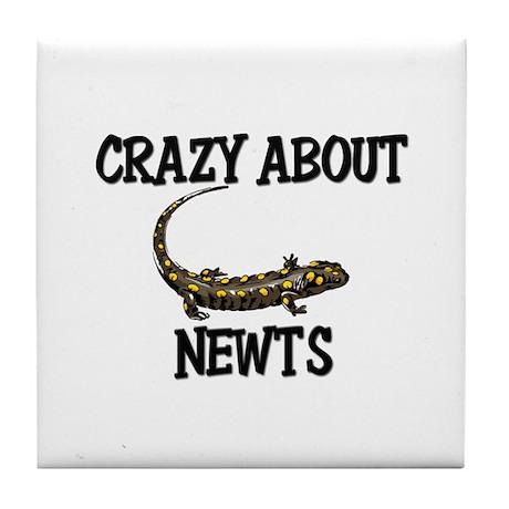 Crazy About Newts Tile Coaster