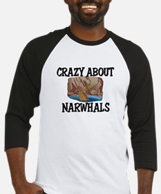 Crazy About Narwhals Baseball Jersey