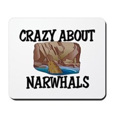 Crazy About Narwhals Mousepad