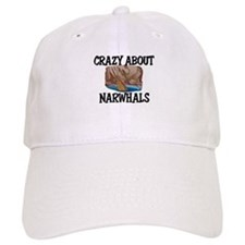 Crazy About Narwhals Baseball Cap