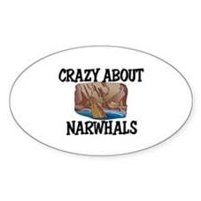 Crazy About Narwhals Oval Decal