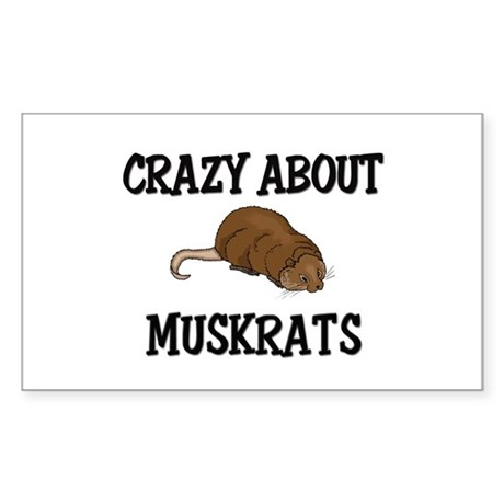 Crazy About Muskrats Rectangle Sticker