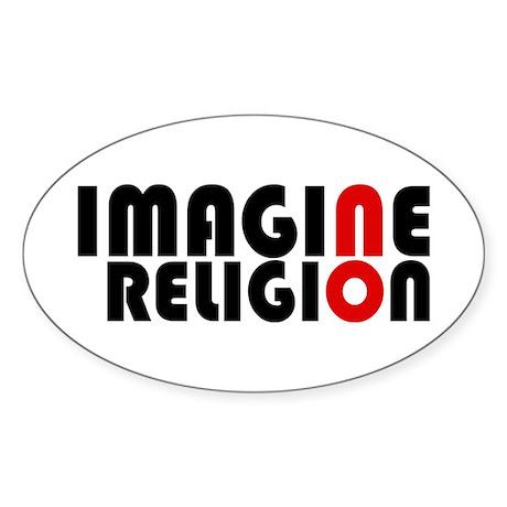 Imagine Oval Sticker