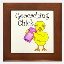 Geocaching Chick Framed Tile