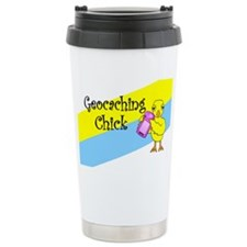 Geocaching Chick Travel Mug