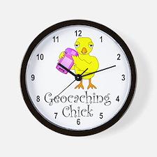Geocaching Chick Wall Clock