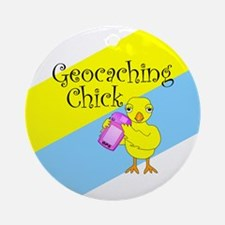 Geocaching Chick Ornament (Round)