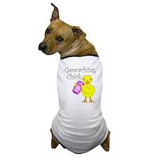 Geocaching Chick Dog T-Shirt