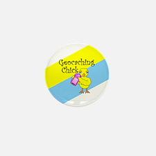 Geocaching Chick Mini Button (100 pack)