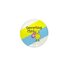 Geocaching Chick Mini Button (10 pack)