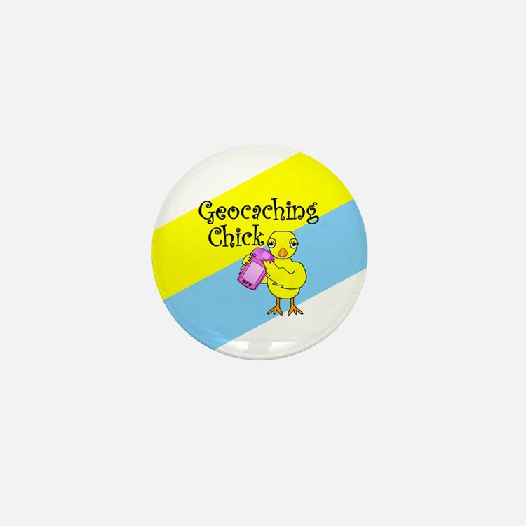 Geocaching Chick Mini Button