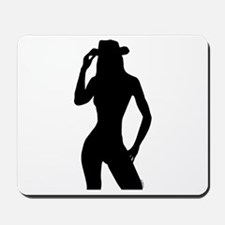 Nude Silhouette w/Hat Mousepad