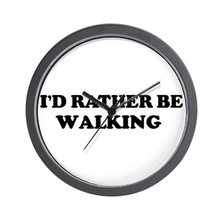 Rather be Walking Wall Clock