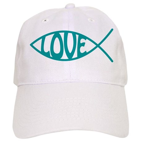 Jesus Christ Love Fish Cap