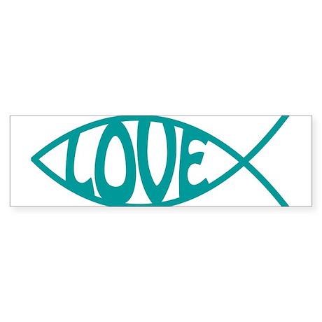 Jesus Christ Love Fish Bumper Sticker