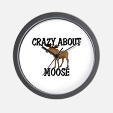 Crazy About Moose Wall Clock