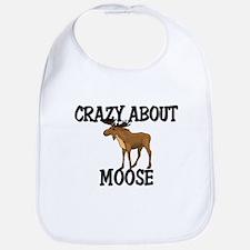 Crazy About Moose Bib