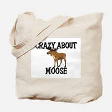 Crazy About Moose Tote Bag