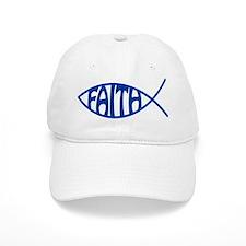 Jesus Christ Faith Fish Baseball Cap