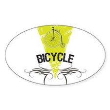 Bicycle Oval Sticker (50 pk)
