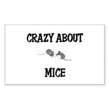 Crazy About Mice Rectangle Decal