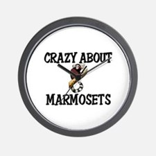 Crazy About Marmosets Wall Clock